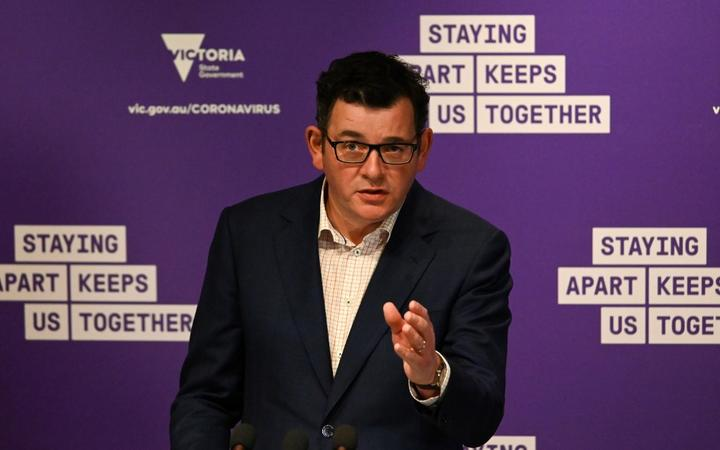 Victoria's state premier Daniel Andrews speaks during a press conference in Melbourne on September 6 2020 as the state announced an extension to its strict lockdown law
