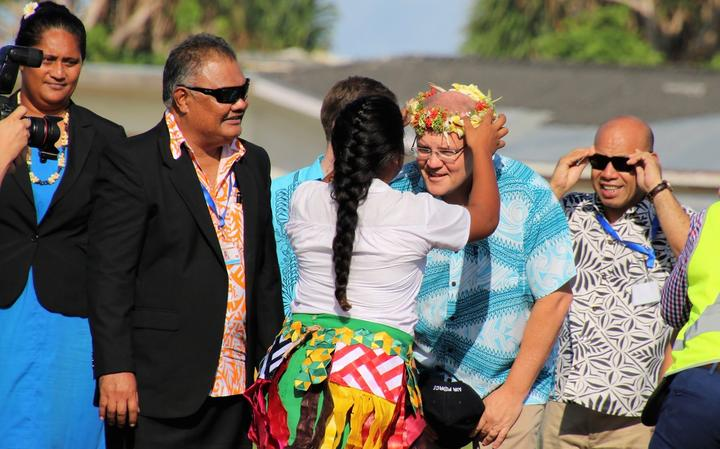 Australia's prime minister is welcomed upon his arrival in Tuvalu for the Pacific Islands Forum leader's summit. August 2019