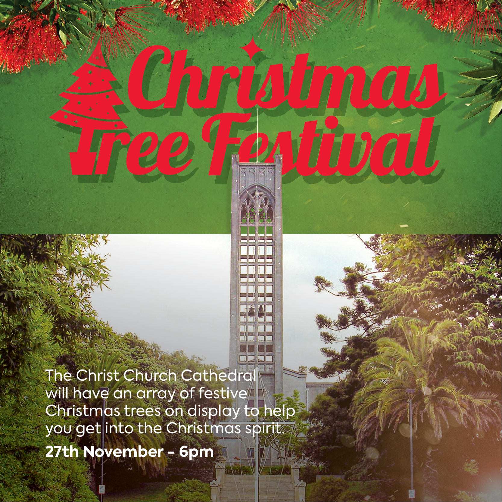 Christmas City Festival | Christmas Tree Festival at Nelson Cathedral | The Christ Church Cathedral | Nelson City Christmas in the City