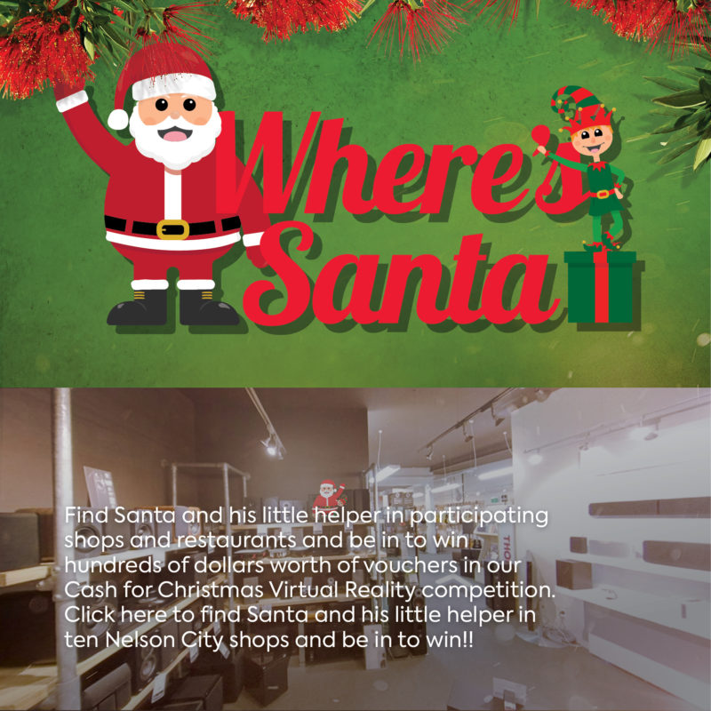 Find Santa | Where is Santa | Shop and Win | Virtual Santa in Nelson | Santa in the Shop