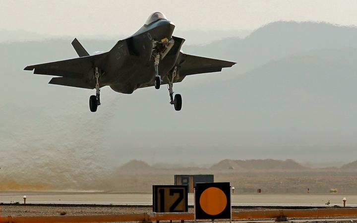 "An Israeli F35I fighter jet takes part in the ""Blue Flag"" multinational air defence exercise at the Ovda air force base, north of the Israeli city of Eilat, on November 11, 2019."