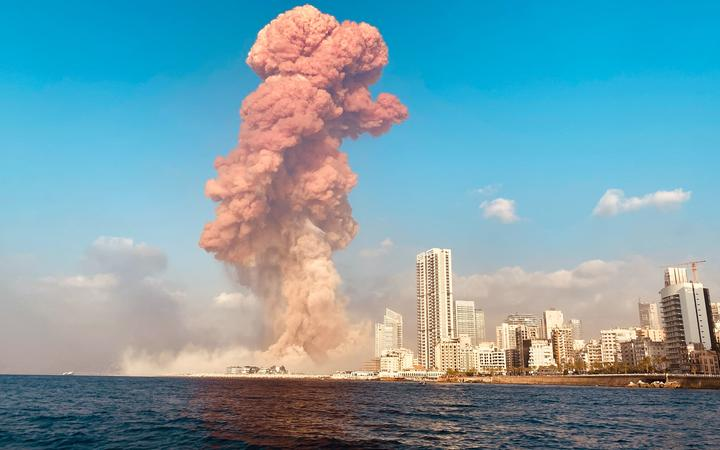 A large explosion rocked the Lebanese capital Beirut on 04.08.2020. The blast, which rattled entire buildings and broke glass, was felt in several parts of the city. Mikhail Alaeddin